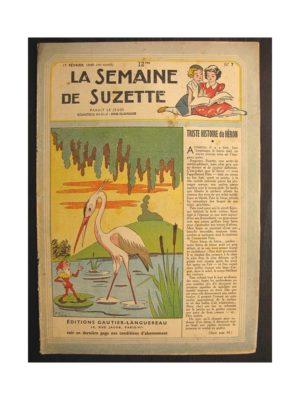 La semaine de Suzette 40e année n°7 (1949) Triste histoire du Héron