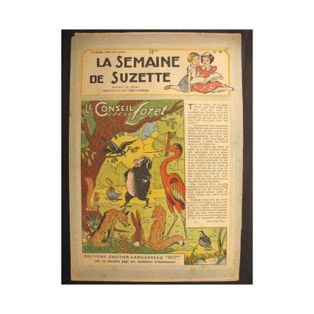 La semaine de Suzette 40e année n°10 (1949) Le Conseil de la forêt