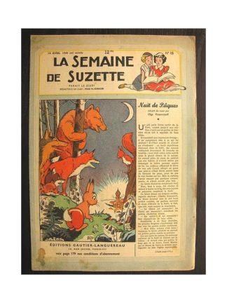 La semaine de Suzette 40e année n°15 (1949) Nuit de Pâques