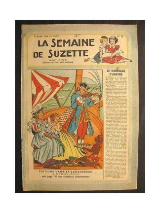 La semaine de Suzette 40e année n°16 (1949) Le naufrage d'Agathe