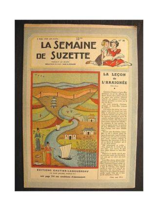 La semaine de Suzette 40e année n°18 (1949) La leçon de l'araignée