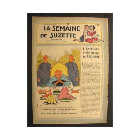 La semaine de Suzette 40e année n°20 (1949) L'empereur voulut manger du rossignol (Bleuette)