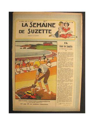La semaine de Suzette 40e année n°25 (1949) Fa tient de famille