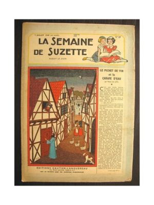 La semaine de Suzette 40e année n°27 (1949) Le pichet de vin et la carafe d'eau (Bleuette)