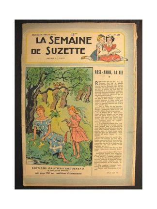 La semaine de Suzette 40e année n°30 (1949) Rose-Annie, la fée
