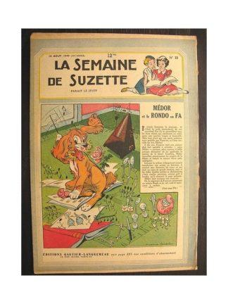 La semaine de Suzette 40e année n°33 (1949) Médor et le rondo en fa