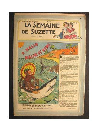 La semaine de Suzette 40e année n°34 (1949) A malin malin et demi (Bleuette)