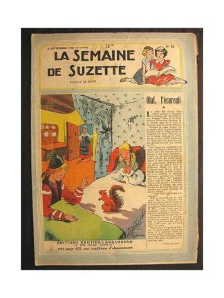 La semaine de Suzette 40e année n°36 (1949) Olaf l'écureuil
