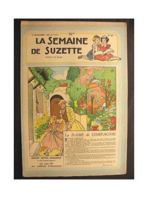 La semaine de Suzette 40e année n°37 (1949) La dame de compagnie
