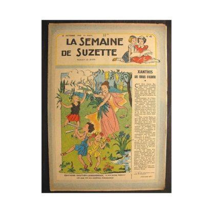 La semaine de Suzette 40e année n°42 (1949) Xanthis aux feuilles d'acanthe (Bleuette)