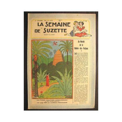 La semaine de Suzette 40e année n°43 (1949) Au marché de la rivière des parfums