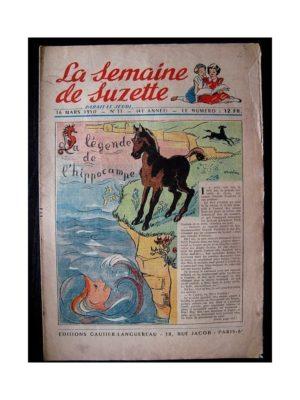 LA SEMAINE DE SUZETTE 41e ANNEE (1950) n°11 La légende de l'hippocampe