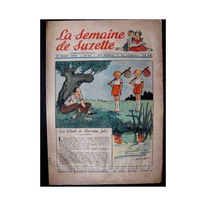 LA SEMAINE DE SUZETTE 41e ANNEE (1950) n°12 Les filleuls de Marraine Jolie