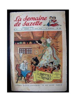 LA SEMAINE DE SUZETTE 41e ANNEE (1950) n°24 Les bottes rouges