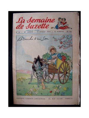 LA SEMAINE DE SUZETTE 41e ANNEE (1950) n°28 Brioche d'un sou (Manon Iessel)