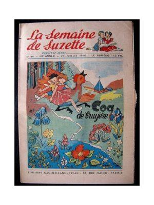 LA SEMAINE DE SUZETTE 41e ANNEE (1950) n°29 Coq de Bruyère