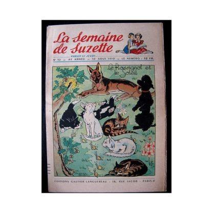 LA SEMAINE DE SUZETTE 41e ANNEE (1950) n°32 Le rossignol et le soleil