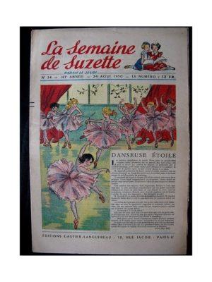 LA SEMAINE DE SUZETTE 41e ANNEE (1950) n°34 Danseuse étoile (Bleuette)