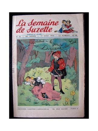 LA SEMAINE DE SUZETTE 41e ANNEE (1950) n°35 Beau comme le jour et douceur du ciel