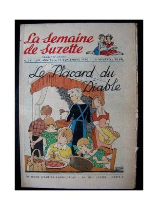 LA SEMAINE DE SUZETTE 41e ANNEE (1950) n°37 Le placard du diable