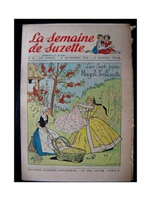 LA SEMAINE DE SUZETTE 41e ANNEE (1950) n°38 Les 7 jupes de Magali-Francinette (Bleuette)