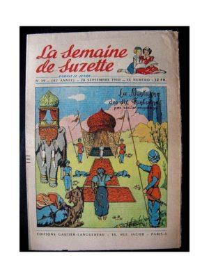 LA SEMAINE DE SUZETTE 41e ANNEE (1950) n°39 La montagne des dix fontaines