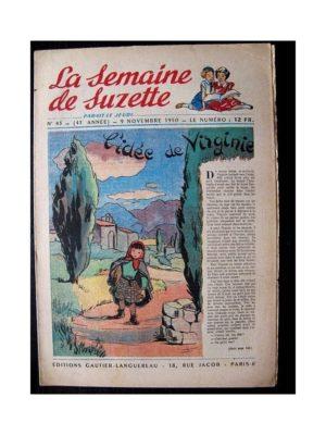 LA SEMAINE DE SUZETTE 41e ANNEE (1950) n°45 L'idée de Virginie
