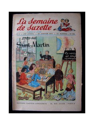 LA SEMAINE DE SUZETTE 42e ANNEE (1951) n°4 Ainsi fit Saint Martin