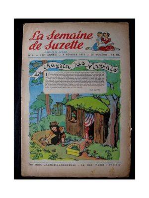 LA SEMAINE DE SUZETTE 42e ANNEE (1951) n°6 Le chagrin de Virginie