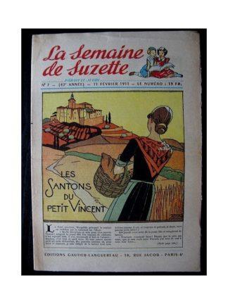 LA SEMAINE DE SUZETTE 42e ANNEE (1951) n°7 Les santons du petit Vincent