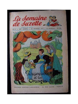 LA SEMAINE DE SUZETTE 42e ANNEE (1951) n°8 Pimprenelle et les oranges