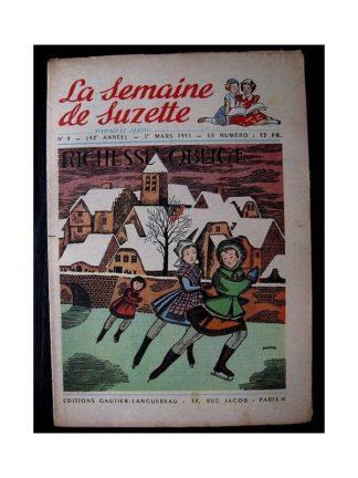 LA SEMAINE DE SUZETTE 42e ANNEE (1951) n°9 Richesse oblige
