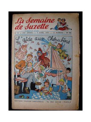 LA SEMAINE DE SUZETTE 42e ANNEE (1951) n°14 L'aide aux chérubins (Bleuette)