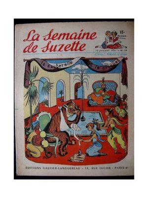 LA SEMAINE DE SUZETTE 42e ANNEE (1951) n°28 La sauterelle et le criquet (Bleuette)