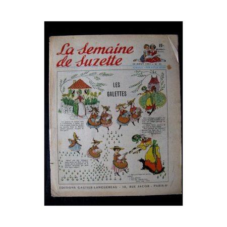 LA SEMAINE DE SUZETTE 42e ANNEE (1951) n°35 Les galettes