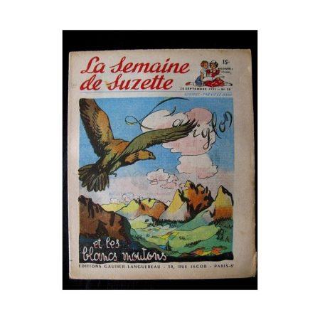 LA SEMAINE DE SUZETTE 42e ANNEE (1951) n°38 L'aiglon et les blancs moutons