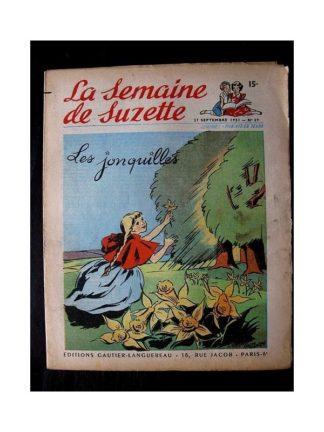 LA SEMAINE DE SUZETTE 42e ANNEE (1951) n°39 Les jonquilles