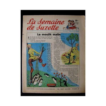 LA SEMAINE DE SUZETTE 42e ANNEE (1951) n°43 Le moujik malin (Bleuette)