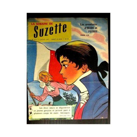LA SEMAINE DE SUZETTE 48e année (1957) N°33 AVENTURES D'HEIDI ET PIERRE /Bambino