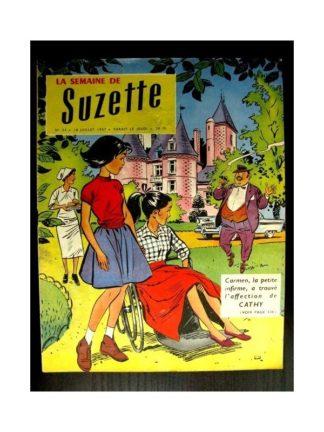LA SEMAINE DE SUZETTE 48e année (1957) N°34 CATHY SAUTE LE MUR