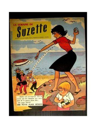 LA SEMAINE DE SUZETTE 48e année (1957) N°49 UNE PETITE PLAGE DESERTE