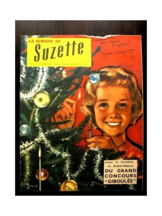 LA SEMAINE DE SUZETTE 49e année (1957) N°4 CONCOURS GIBOULEE