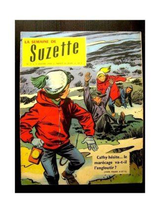 LA SEMAINE DE SUZETTE 49e année (1958) N°7 OHE CATHY GARE AUX FAGNES!