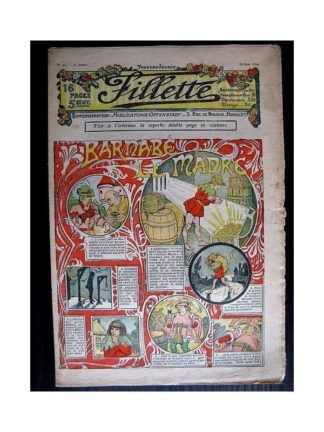 FILLETTE N°37 (30 juin 1910) BARNABE LE MADRE (Poupée Fillette)