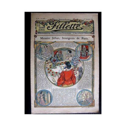 FILLETTE N°46 (1er septembre 1910) MESSIRE JEHAN BOURGEOIS DE PARIS (Poupée fillette)