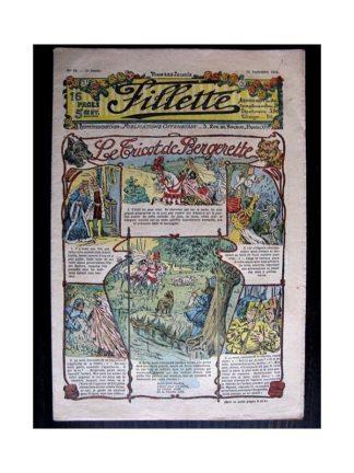 FILLETTE N°49 (22 septembre 1910) LE TRICOT DE BERGERETTE (Poupée fillette)
