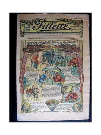 FILLETTE N°60 (8 décembre 1910) COMMENT KAKIMOTO FUT VAINQUEUR DE L'OGRE