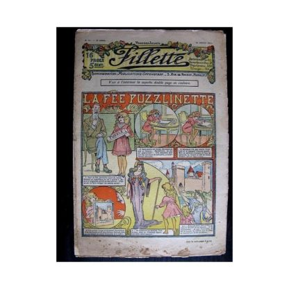 FILLETTE N°67 (26 janvier 1911) LA FEE PUZZLINETTE (Poupée Fillette)