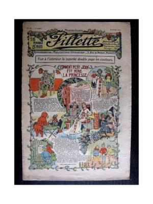 FILLETTE (SPE) 1911 N°69 COMMENT PETIT JEAN FIT RIRE LA PRINCESSE (Poupée Fillette – Toque de fourrure)