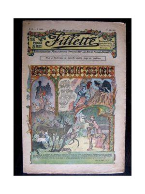 FILLETTE (SPE) 1911 N°85 LEGENDE DU CHEVALIER SANS-COEUR (Poupée Fillette – Capote élégante)